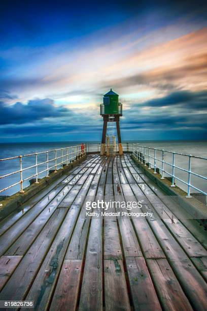 pier end - kathy shower stock pictures, royalty-free photos & images