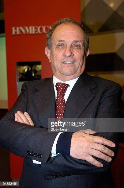 Pier Francesco Guarguaglini chairman and cochief executive of Finmeccanica SpA poses at a press conference in Milan Italy Monday April 5 2004...