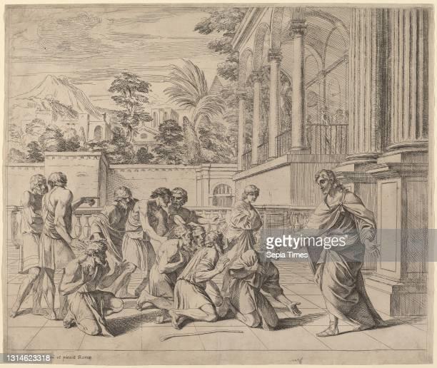 Pier Francesco Mola, , Italian, 1612 - 1666, Joseph Identifying Himself to His Brothers, etching.