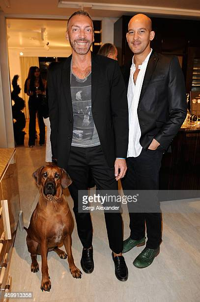 Pier Giorgio Pignatelli and Jon Paul Pierre attend Luxury Living Showroom Art Basel Miami Beach Event on December 3 2014 in Miami Florida