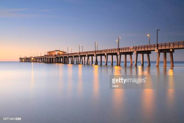 pier, gulf shores, alabama - gulf coast states stock pictures, royalty-free photos & images