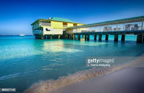 pier in barbados - bridgetown barbados stock pictures, royalty-free photos & images