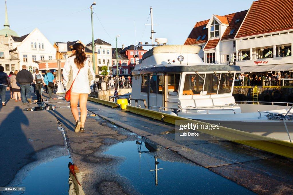 Pier in Bergen : Stock Photo