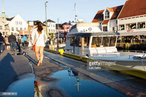 pier in bergen - dafos stock photos and pictures