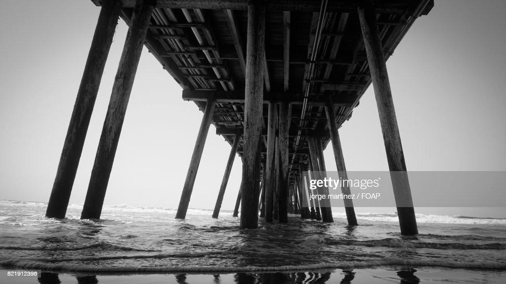 Pier in sea : Stock Photo