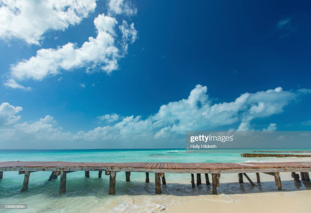 Pier in the Caribbean : Stock Photo