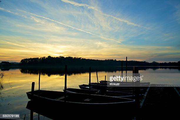 pier in the lake - berchtesgaden alps stock photos and pictures