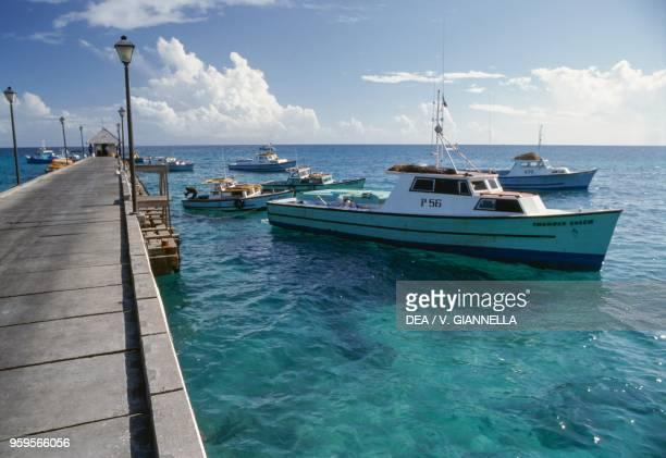 Pier in the marina of Saint John island of Saint John US Virgin Islands United States of America