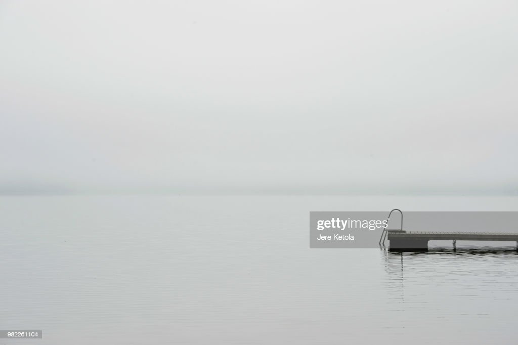 A pier on a lake in Finland : Stock Photo
