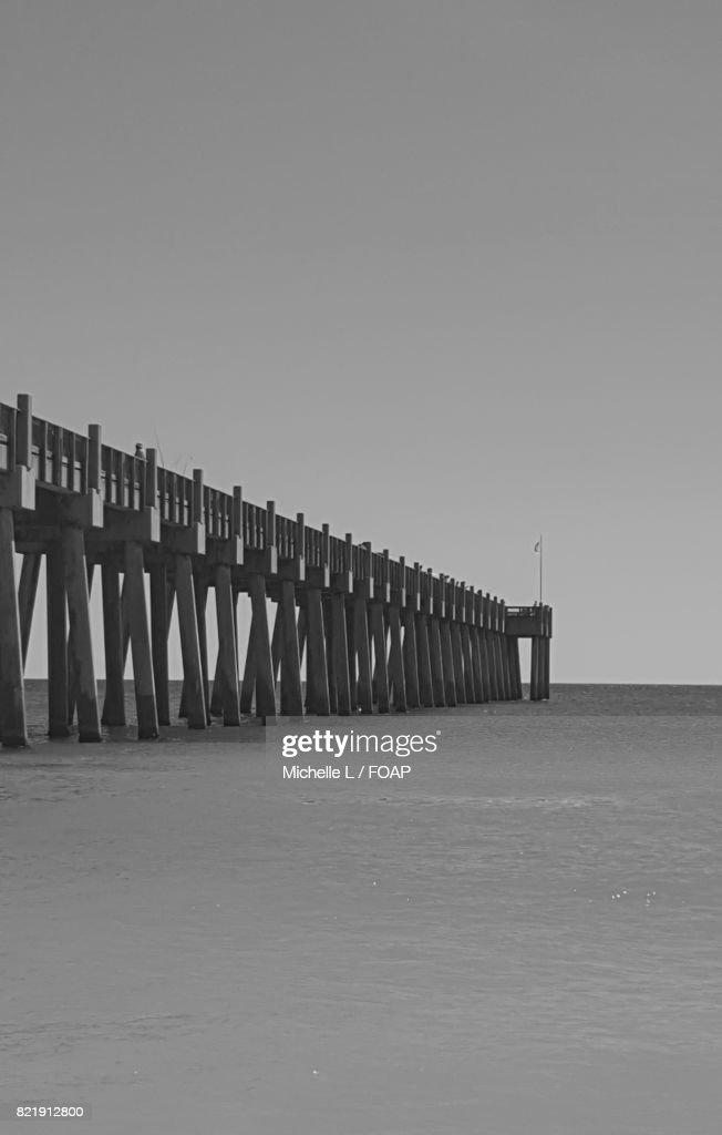 Pier on sea : Stock Photo