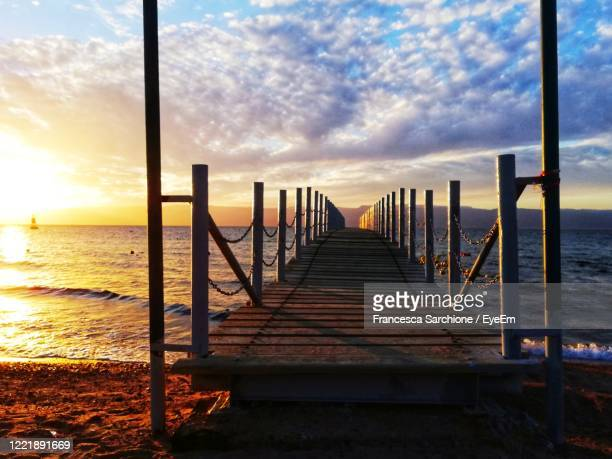 pier on the red sea - marina stock pictures, royalty-free photos & images