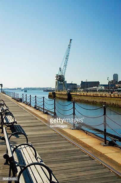 Pier over a river, Boston, Massachusetts, USA