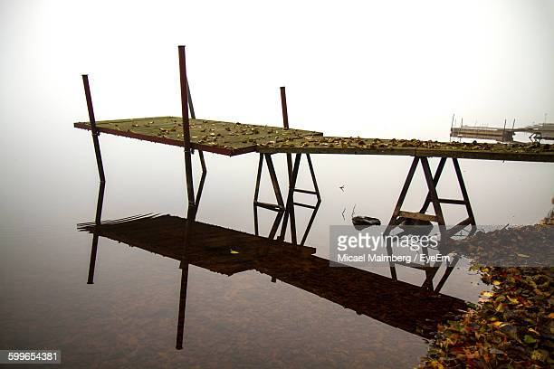 pier over lake - vaxjo stock pictures, royalty-free photos & images