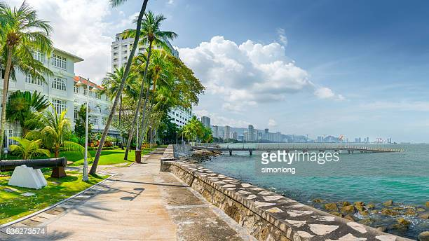 Pier Over Sea Against Cloudy Sky,Penang, Malaysia