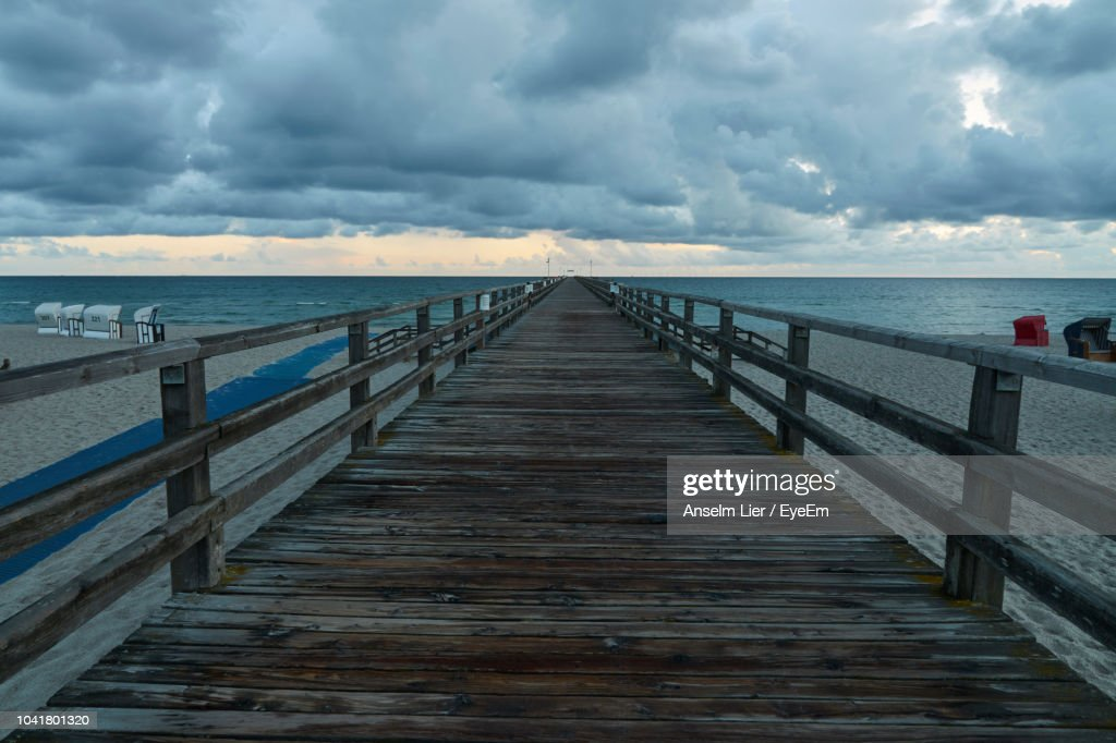 Pier Over Sea Against Sky : Stock Photo