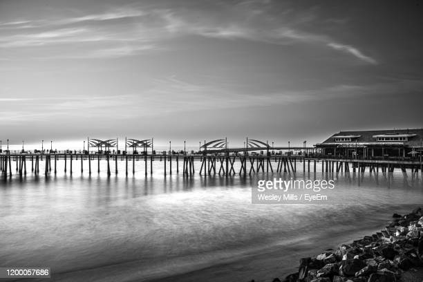 pier over sea against sky - redondo beach california stock pictures, royalty-free photos & images