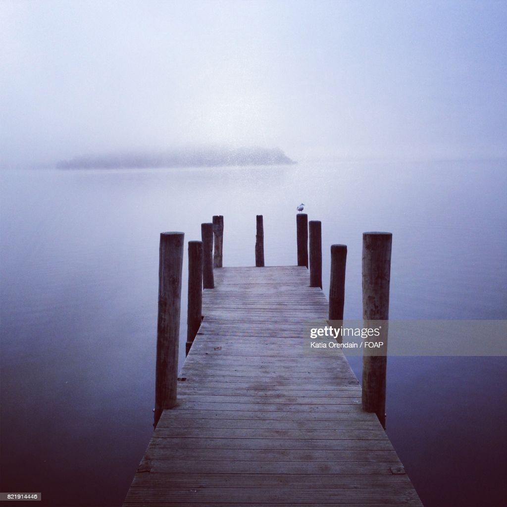 Pier over the lake : Stock Photo