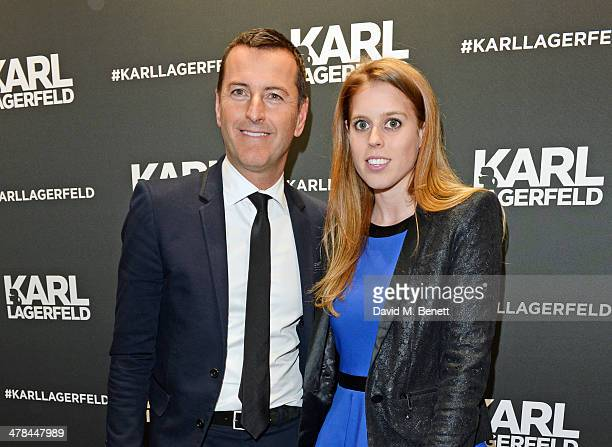 Pier Paolo Righi President of Karl Lagerfeld BV and Princess Beatrice of York attend the Karl Lagerfeld European flagship store launch on March 13...