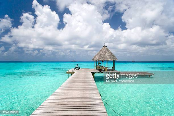 pier - tahiti stock pictures, royalty-free photos & images