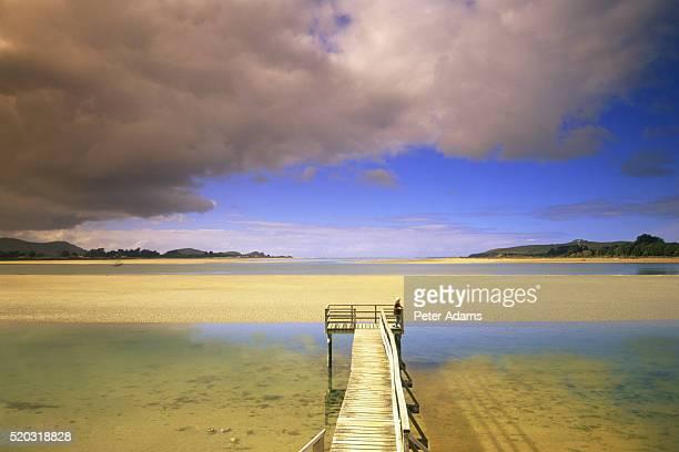 Pier, Pounawea, South Island, New Zealand