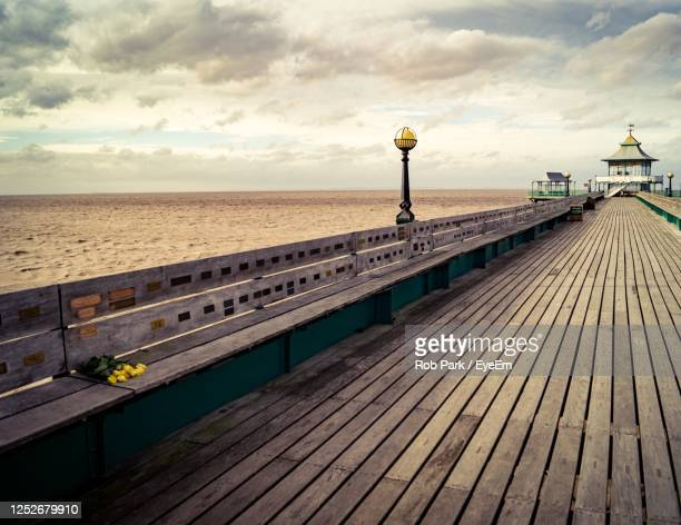 pier sea view - memorial vigil stock pictures, royalty-free photos & images