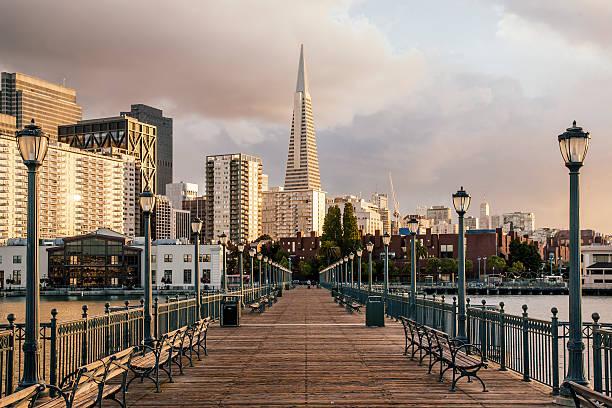 Pier Seven And Transamerica Pyramid, San Francisco, California, USA Wall Art