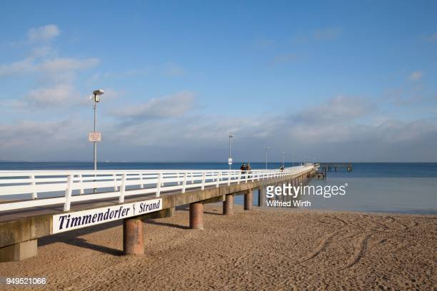 Pier, Timmendorfer Strand, Baltic Sea coast, Luebeck Bay, Schleswig-Holstein, Germany