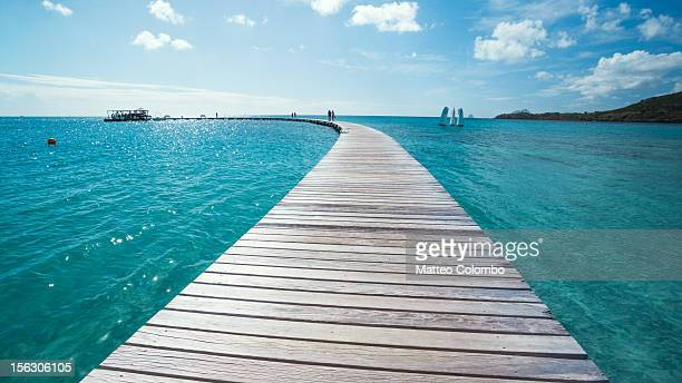 Pier to Caribbean sea