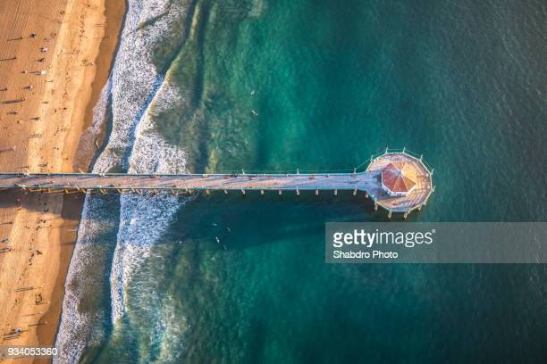 pier view heli - city of los angeles stock pictures, royalty-free photos & images