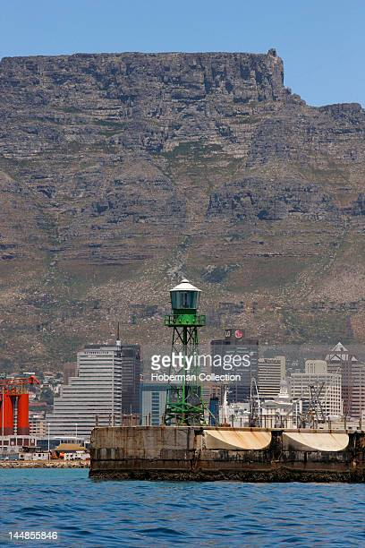 Pier with Table Mountain and Cape Town CBD, South Africa