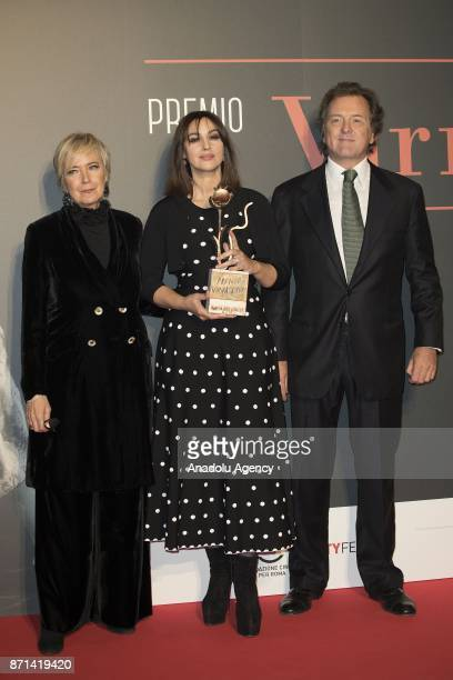 Piera De Tassis Italian actress Monica Bellucci and Virna Lisi's son Corrado Pesci attend the red carpet of the Virna Lisi Award at Auditorium Parco...