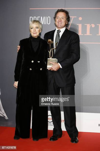 Piera Detassis and Corrado Pesci attend The Virna Lisi Award at Auditorium Parco Della Musica on November 7 2017 in Rome Italy