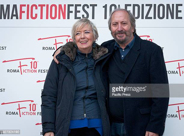 Piera Detassis and Giuseppe Piccioni during the photocall of the press conference to present the tenth edition of Roma Fiction Fest