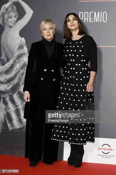 Piera Detassis and Monica Bellucci attend The Virna Lisi Award at Auditorium Parco Della Musica on November 7 2017 in Rome Italy