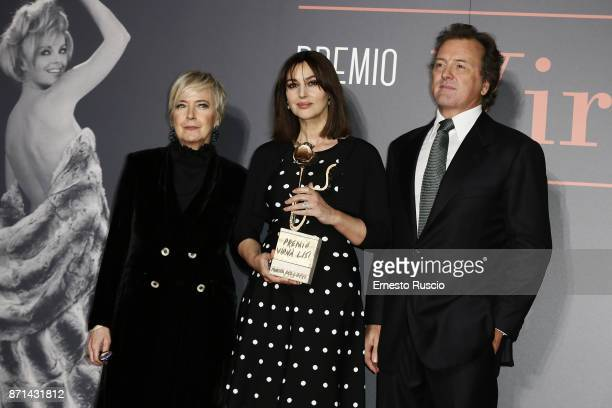 Piera Detassis Monica Bellucci and Corrado Pesci attend The Virna Lisi Award at Auditorium Parco Della Musica on November 7 2017 in Rome Italy