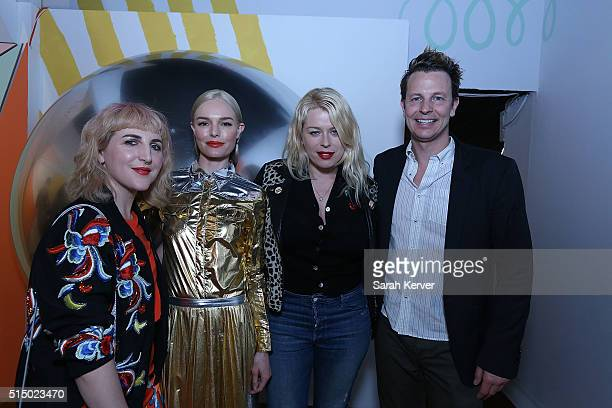 Piera Gelardi actress Kate Bosworth Amanda De Cadenet and Nathan Coyle attend Refinery29's School of Self Expression opening night party presented by...