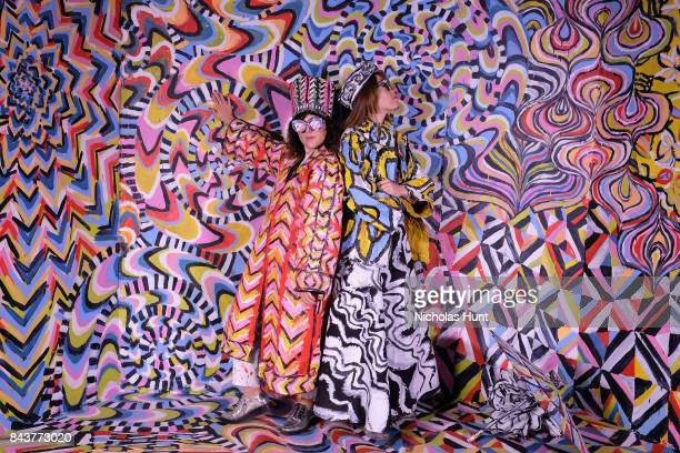 Piera Gelardi and Alexa Mead attend the Refinery29 Third Annual 29Rooms Turn It Into Art Press Preview on September 7 2017 in the Brooklyn borough of...