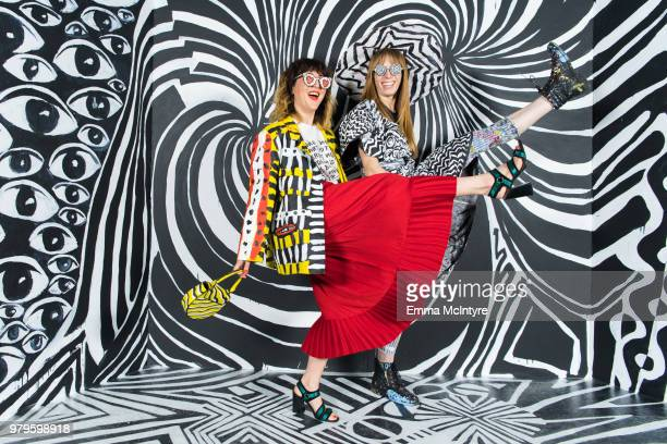 Piera Gelardi and Alexa Meade attend Refinery29's '29Rooms San Francisco Turn It Into Art' on June 20 2018 in San Francisco California