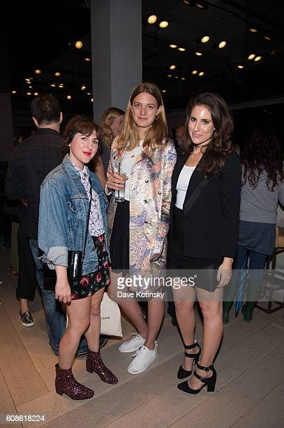 "Piera Gelardi and Georgina Harding attends the Daniel Arsham ""Colorblind Artist: In Full Color"" at Spring Place on September 19, 2016 in New York..."