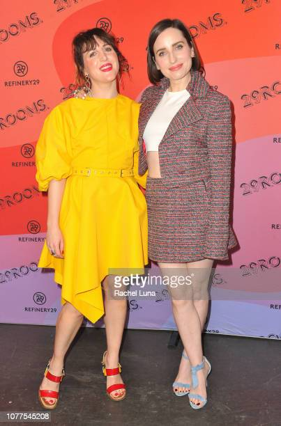 Piera Gelardi and Zoe ListerJones attend Refinery29's 29Rooms Los Angeles 2018 Expand Your Reality at The Reef on December 04 2018 in Los Angeles...