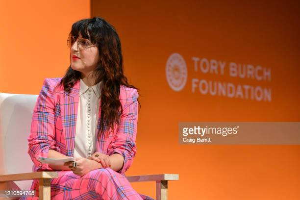 Piera Gelardi, Executive Creative Director & Co-Founder, Refinery29 speaks onstage during the 2020 Embrace Ambition Summit by the Tory Burch...