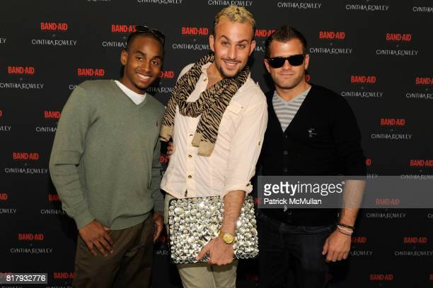 Pierce Baptiste Micah Jesse and Justin Keperman attend Cynthia Rowley Summer/Spring 2011 Reception With Johnson Johnson at Cooper Hewitt Museum on...