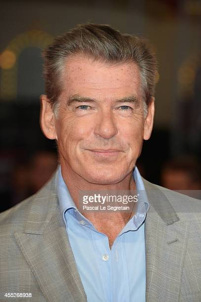 Pierce Brosnam attends the 'Pasolini' premiere on September 11 2014 in Deauville France