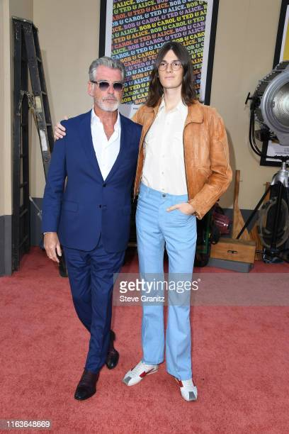 Pierce Brosnan and Dylan Brosnan attend the Sony Pictures' Once Upon A TimeIn Hollywood Los Angeles Premiere on July 22 2019 in Hollywood California