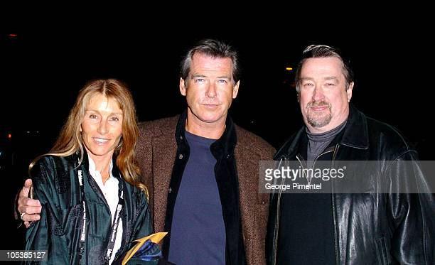 Pierce Brosnan and Geoffrey Gilmore producer during 2005 Sundance Film Festival The Matador Premiere at Eccles Theatre in Park City Utah United States