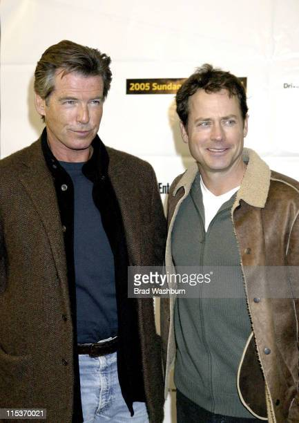"Pierce Brosnan and Greg Kinnear during 2005 Sundance Film Festival - ""The Matador"" Premiere at Eccles Theatre in Park City, Utah, United States."