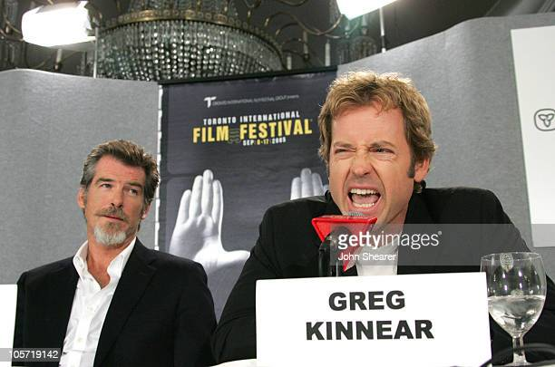 "Pierce Brosnan and Greg Kinnear during 2005 Toronto Film Festival - ""The Matador"" Press Conference at Sutton Place in Toronto, Canada."