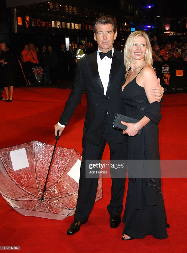 Pierce Brosnan and his daughter Charlotte during The Orange British Academy Film Awards 2006 - Outside Arrivals at Odeon Leicester Square in London, Great Britain.