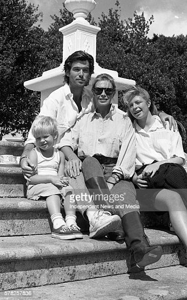 Pierce Brosnan and his family at Tinakilly house Rathnew County Wicklow