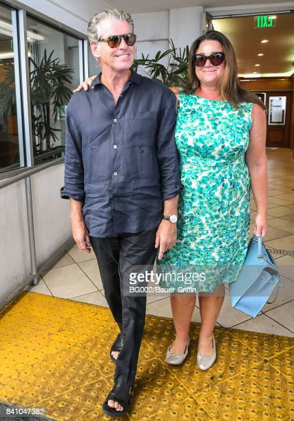 Pierce Brosnan and his wife Keely Shaye Smith are seen on August 30 2017 in Los Angeles California